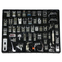 Wholesale brother presser foot - Professional Domestic 52pcs Sewing Machine Sewing Foot Presser foot Presser Feet Set for Brother, Singer, Babylock, Janome, Elna,etc