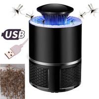 ingrosso lampada per uccisione degli insetti-USB Photocatalyst Lampada mosquito killer Lampada repellente per insetti Zanzara Trappola anti luce Lampada anti raggi UV Luce Repeller