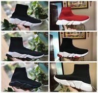 ingrosso scarpe da ballo nero in raso-Scarpe Calzino di lusso Scarpe da ginnastica Casual Scarpe da ginnastica di alta qualità Scarpe da ginnastica Calzino da corsa nero Scarpe da uomo Scarpe da donna di lusso