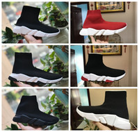 koşucular yüksek toptan satış-Sock Shoes Casual Shoe Speed Trainer High Quality Sneakers Speed Trainer Sock Race Runners black Shoes men and women Shoe