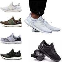 Wholesale pe lights - 2018 running shoes sneaker ultra runner PE 3.0 4.0 Triple Black white CNY oreo Primeknit woman man designer sports sock dart
