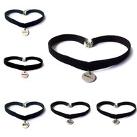 Wholesale sexy leather rope pendant necklaces resale online - New Fashion Style Sexy Vintage Black Necklace Kpop Pendant Leather Choker Necklace BTS Blackpink Seventeen Monsta