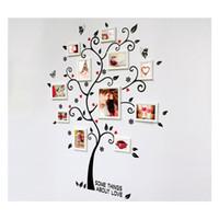 molduras para foto mural venda por atacado-Decorativa Auto Adesivo Sala de estar Quarto Foto Quadro Memória Árvore Decalque Removível Mural Arte Da Parede Adesivo de Decoração Para Casa DIY