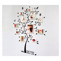 ingrosso murale adesivo-Decorativo Autoadesivo Soggiorno Camera da letto Photo Frame Memory Tree Decal Rimovibile Murale Wall Art Sticker Home Decor FAI DA TE