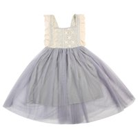 Toddler Kids Baby Girl Dress Children Clothing Girls Costume Floral Summer Bowknot Party Sleeveless Lace Dress Sundress Clothes