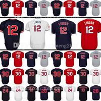 Wholesale Ivory Logo - Men's 12 24 28 10 Edwin Encarnacion 30 Joe Carter Jersey Baseball Jerseys Cleveland mesh Embroidery Logos