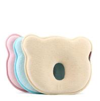 oreillers mignons ours achat en gros de-Doux mémoire mousse bébé oreillers créatif ours en forme de coussin coussin mignon respirant bébé formant oreiller haute qualité 18jb BB
