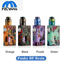 Wholesale feeding kit - 100% Original Aleader Funky Squonk BF Kit and Box Mod Resin Edition with Bottom Feeding 8ml Bottle 810 Drip Tip Authentic