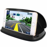 fahrzeugtelefonhalter großhandel-Handy-Halter Auto-Telefon Halterungen Dashboard GPS Halter Montage im Fahrzeug für iPhone Samsung Universal mit Retail-Box