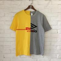 Wholesale Neck Patch - 2018 Vetements Style DHL Patch Work Women Men T Shirts tee Hiphop High Street Men Cotton T shirt