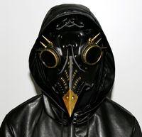 pvc props großhandel-Steampunk Pest Arzt Maske Kunstleder Vögel Schnabel Masken Halloween Kunst Cosplay Carnaval Requisiten
