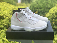 zapatos de fibra de carbono al por mayor-2018 Release 11 Platinum Tint 11s Zapatillas de baloncesto para hombres Real Carbon Fibre Authentic Quality Sports Sneakers With Box 378037-016