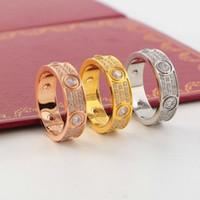 Wholesale diamond wedding ring prices online - Low Price Hot Sale CNC Sparkly Austrian Zirconia Rhinestone Diamond Luxury Lady And Man Lover Wedding Ring Jewelry Rings
