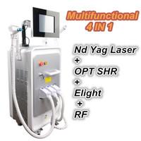 Wholesale ipl e light tattoo removal for sale - 2018 multifunctional IPL machine nd yag laser tattoo removal e light rf skin rejuvenation opt hair removal