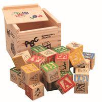 ingrosso blocchi di alfabeti-27 pz / set Imaginarium Scoperta Numeri alfabeto in legno Building Blocks Mattoni in legno blocchi giocattoli per i bambini