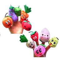 Wholesale finger fruits vegetables toys for sale - Group buy Fruits and Vegetables Soft Finger Puppets Set for Children Early Development Learning Education Toys Gifts For Kids