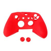 caja del controlador xbox one al por mayor-Nuevas tapas antichoque de la cubierta 2 del silicón de la cubierta del silicón para el regulador de Xbox One S Slim / X