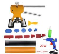 kiti sekmesi toptan satış-PDR Araçları Paintless Araba Dent Onarım Aracı Kaldırma Çektirme Sekmeler Dent Kaldırıcı PDR Aracı Kiti ToolKit El Aracı Set