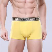 männer, die unterwäsche abnehmen großhandel-Männer Unterwäsche Boxers Marke Einfarbig Männlich Sexy Slim Fit Unterhose Hochwertige Casual Atmungsaktive Shorts
