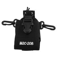 naylon taşıma çantası toptan satış-Naylon Tutucu Baofeng için Taşıma Çantası Radyo Çanta Kılıfı Organizatör MSC-20B Taşınabilir Walkie Talkie