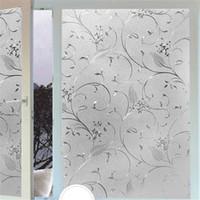 Wholesale Glass Wall Light Shades - beibehang Electrostatic glass sticker window light transparent opaque bathroom shade sunscreen glass Cellophane wall paper
