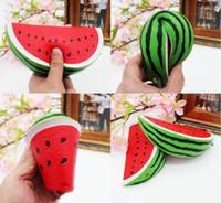 Wholesale Fun Retail - Watermelon Squishy Kawaii 14.5cm Jumbo Decoration Super Slow Rising Toy Squeeze Soft Stretch Scented Bread Cake Fruit Fun Kids Toys Gift