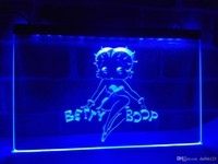 Wholesale blue led sign lights - LC197b- Betty Boop LED Neon Light Sign