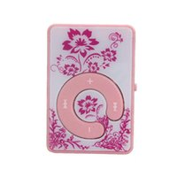 Wholesale flower player for sale - Group buy High Sound Quality New Brand Mini Clip Flower Pattern MP3 Player Music Media Support Micro SD TF Card Y