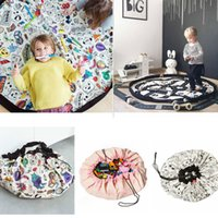 Wholesale toy beans for kids online - 135CM Portable Kids Toy Organizer Container Storage Bean Bag Drawstring for DIY Graffiti Doodling Mat Children Learn Painting AAA709
