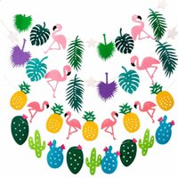 Wholesale hot events - Pineapple Flamingo Wedding Decorations Garland Flags Scene Arrangement Birthday Event Party Supplies Many Styles Hot Sale 5 8sd C RW