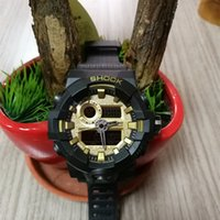 Wholesale Mens Watches Square Digital - Mens 2018 New Arrival Sports Watches LED Digital Analog Display Luxury G Style Shock Wristwatches Mans Male Military relogio masculino Clock