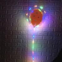 воздушные шары оптовых-Хорошо оцененный светодиодный фонарь Бобо для подарка для промотирования 18 дюймов вел веревочный гелийский баллон