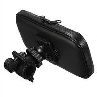 iphone bike bagaj çantası toptan satış-SIYAH IPX4 Su Geçirmez Bisiklet Bisiklet Gidon Montaj Tutucu Çanta Kılıfı iphone X NOT 8 S8 20 ADET / GRUP