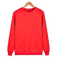 pink clothing al por mayor-2018 Aikooki Fashion Solid Hoodies hombres / mujeres Casual Harajuku Red Sweatshirt hombres / mujeres Solid Jerseys Pink Warm Hoody ropa
