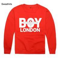 Wholesale London Sweater - Boy London thick round neck sweater Sport Sweatshirts Spring Fashion Mens Hoodies Casual Slim Casual O-neck Fitness Male Pullover