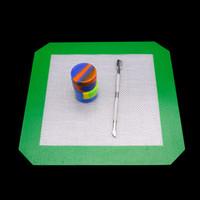 rauchen zubehör container groihandel-Tupfenwerkzeug Mit Silikonkissen Silikonbehälter Rauchzubehör Großhandel Wax Dabber Set für Quarzknaller Glasbong Tupfer Rig