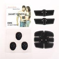 pads de stimulation musculaire achat en gros de-ABS Stimulateur intelligent Fitness abdominale EMS stimulation électrique musculaire Muscle exerciseur Ceinture de massage brûleur de graisse du corps Minceur Pad 10set