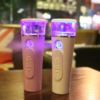 tragbare freigabe großhandel-Neue freigegebene tragbare Mini-Gesichts-Sprühflasche Nano Mister Facial Hair Steamer USB wiederaufladbare Energienbank Sprayer 2 in 1 Travel Tool