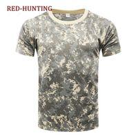 taktisches t-shirt großhandel-US Armee ACU Tactical Camouflage T-shirt Männer Atmungs Armee Kampf T-shirt Quick Dry Camo T-shirts