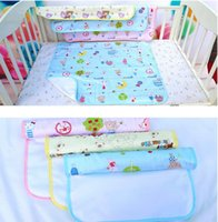 Wholesale boys girls diaper resale online - DHL SHIP Baby water proof diapers urine mat cover random color changable nice quality diapering mats