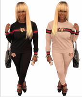Wholesale new art heading for sale - New omen Tracksuit Tiger Head Print Sweatshirt Pants Set Women Plus Size Jogging Sport Suit Soft Long Sleeve Tracksuit Sportswear S XL