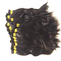 Wholesale remy human braiding hair - Natural Wave 100% Virgin Human Hair Bulk Straight Hair Bulk for Braiding Cabelo Humano Natural Virgin Remy Natural Black Color Loose Hair