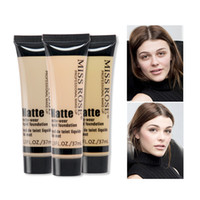 Wholesale miss rose makeup foundation for sale - Group buy Miss Rose Brand Face Concealer Makeup Natural Moisturizer Brighten Cream Professional Base Concealer Liquid Foundation Primer N