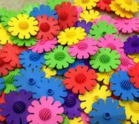 girassol de brinquedo de plástico venda por atacado-Blocos de Construção de Blocos de Plástico Blocos de Construção de Blocos de Hexágono Criativo Criativo de Brinquedos de Construção - 495g