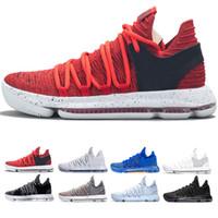ingrosso elite x scarpe da basket-Nuovi numeri Oreo multicolore KD 10 Scarpe da basket uomo Igloo BHM 10 Scarpe da ginnastica medie Elite Kevin Durant taglia 40-46
