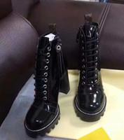 plataforma botas curtas mulheres venda por atacado-2018 novas botas de tornozelo de plataforma de inverno das mulheres sapatos de salto alto, barcos curtos, sapatos confortáveis, mulheres jóqueis, botas de senhoras.