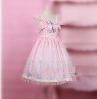 Wholesale japanese halloween costumes girls - Japanese Best-Selling Fancy Girls Alice In Wonderland Fantasy Blue Light Tone Lolita Lace Sleeveless Maid Costume Maid Dres A9767