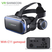 Wholesale google vr for sale - Authentic Shinecon Pro VR Headset Stereo Virtual Reality Smartphone D Glasses Google BOX VR Headset with Remote Controller for Android