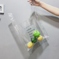 Wholesale pvc vest - Creative Fashion Transparent Handbag Women Clear Jelly Bag PVC Shopping Bag Vest Bag Letter Beach NNA329