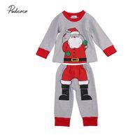 57c496f38a 2PCS Christmas Baby Clothes Kids Boys Girls Happy Autumn Toddler Kids Sets Santa  Claus Nightwear Pajamas Set Sleepwear 1-6T